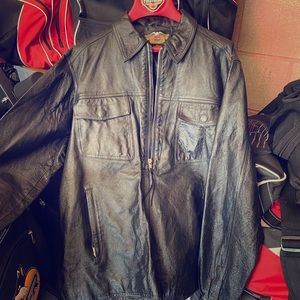 Harley leather riding shirt